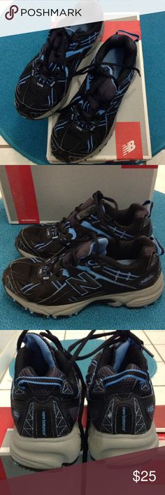 New Balance Trail Running Shoes Black, gray, blue. Only worn 2 or 3 times. Like new. New Balance Shoes Athletic Shoes