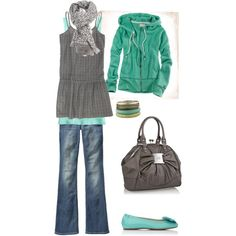 """""""Easy Breezy Aqua"""" by heather-rolin on Polyvore"""