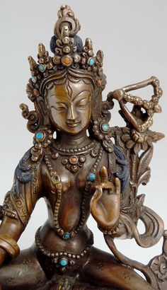 "5"" Red Tara Statue - New Traditional Statues by Tibetan Treasures"