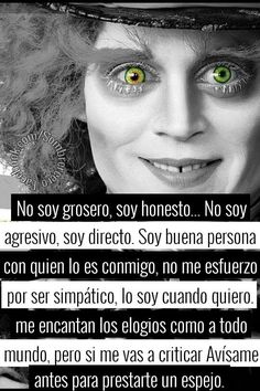we are crazy Mad Hatter Quotes, Memes Arte, Chesire Cat, Cheshire, Inspirational Phrases, Sad Love, Spanish Quotes, Johnny Depp, Love Quotes