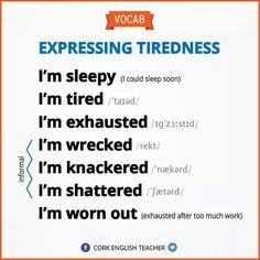 Vous êtes fatigués? Heureusement c'est vendredi! 7 façons de dire qu'on est crevé en #anglais