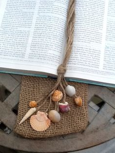 Seashells and Jute Twine Natural Nautical by TonjaMarieDesigns, $8.00