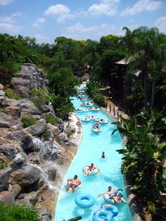 I love the lazy river at Typhoon Lagoon. When you get too tired being thrown around in the wave pool, you can just float along on a tube. It's also nice because you can just hop off your tube and get pulled along in the water.