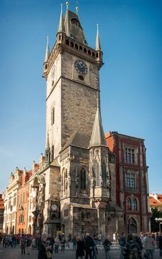 Old Town Hall Tower (1364) & Astronomical Clock (1410), [Staromestska radnice s orlojem], day, Old Town Square, Prague, Czech Republic | by lumierefl