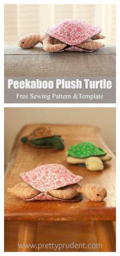 Peekaboo Plush Turtle Free Sewing Pattern and Template Peekaboo Plush Turtle Fre. Peekaboo Plush Turtle Free Sewing Pattern and Template Peekaboo Plush Turtle Fre… Peekaboo Plush Puppet Patterns, Animal Sewing Patterns, Sewing Patterns Free, Free Sewing, Free Pattern, Felt Turtle, Turtle Plush, Sewing Toys, Sewing Crafts