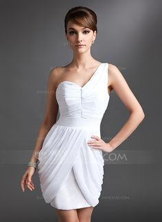 Cocktail Dresses - $118.99 - Sheath One-Shoulder Short/Mini Chiffon Cocktail Dress With Ruffle (016025925) http://jjshouse.com/Sheath-One-Shoulder-Short-Mini-Chiffon-Cocktail-Dress-With-Ruffle-016025925-g25925?ver=xdegc7h0