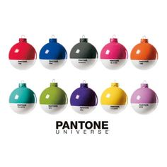 Pantone x-mas Balls by Seletti