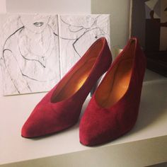 Red pumps size 37 by Typolove on Etsy, €34.00