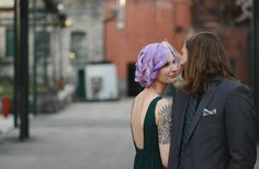 Check out the blog post of this stunning Buffalo Trace Distillery wedding in Frankfort, KY!   http://www.kmrussellphotography.com/the-blog-1/2016/4/25/buffalo-trace-wedding-frankfort-ky Kentucky wedding, Buffalo Trace Distiller, Purple Hair, Tattooed Bride, Industrial, Wedding Inspiration #tattooedbride #purplehair #kentuckyweddingphotographers #kentuckywedding #bourbon
