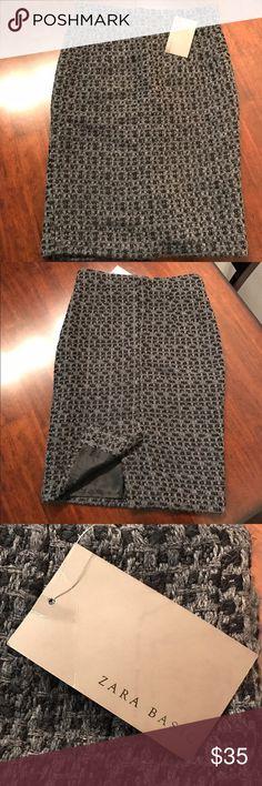 ZARA BASIC SKIRT NWT Very nice brand new Zara Basic skirt. 50% Acrylic 30% Polyester 20% Wool 22 inches in length. Zara Basic Skirts Pencil
