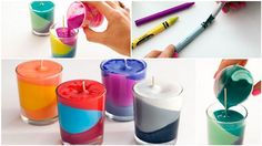 Recycled Crayon Candles