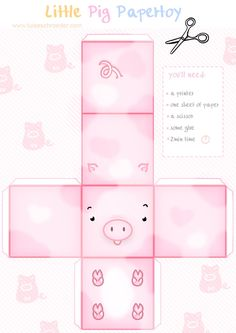 Image detail for -adorable paper pig toy to print | PAPER TOYS - BOXES