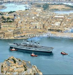 Illustrious enters Grand Harbour of Malta.