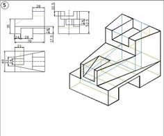 Isometric Drawing, 3d Drawings, Technical Drawing, Autocad, Cad Cam, Education, Welding, Aldo, Engineering