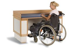 This is a height adjustable changing table which could really make having a child easier for people in wheelchairs. As discussed in class, parenting as a disabled person can be difficult, but this is one of the many ways to make it possible.