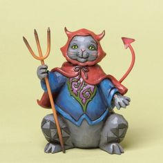 Jim Shore for Enesco Heartwood Creek Pint Sized Halloween Cat Figurine 475Inch * Want additional info? Click on the image.