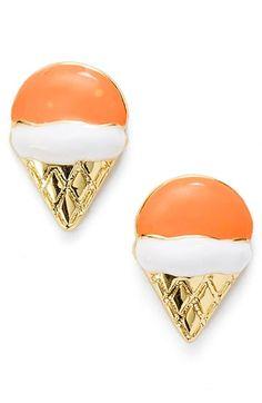 darling ice cream cone stud earrings