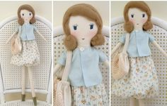 Rosemarie Bannister The Florist - Fabric Doll by lovelui