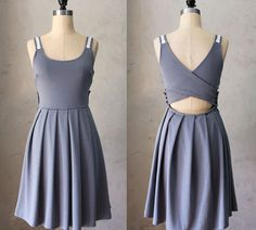 The Derica Dress in Gray