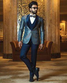 Ranveer Singh  #FASHION #STYLE #SEXY #BOLLYWOOD #INDIA #RanveerSingh Wedding Outfits For Groom, Wedding Men, Wedding Suits, Wedding Dresses, Desi Wedding, Wedding Decor, Wedding Ideas, Mens Fashion Suits, Fashion Wear