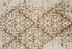 Tapis fait main de style contemporain TAJ MAHAL PLATINE by EDITION BOUGAINVILLE