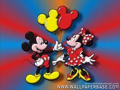 Mickey and Minnie Backgrounds 1 birhtday partr | Más fondos similares en las categorías: Disney , Mickey Mouse