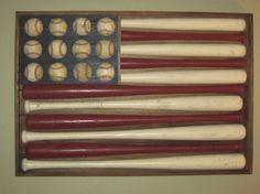 Baseball & Bats -  American Flag