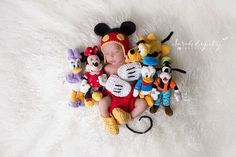 """Zachary living up to his """"Baby Disney"""" nickname! Newborn Baby Photos, Baby Boy Photos, Newborn Pictures, Baby Pictures, Disney Baby Announcement, One Month Baby, Foto Baby, Baby Mouse, Newborn Baby Photography"""