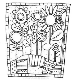 flowers to color coloring sheet