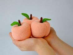 1 Pcs - Crochet peach, crochet fruit, teething toy, toys, play food, kitchen decoration, amigurumi food, amigurumi fruits, amigurumi peach