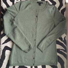 Banana Republic soft green cardigan Silk and cotton blend, pastel green color Banana Republic Sweaters Cardigans