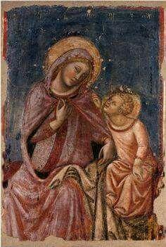 Vitale da Bologna (Bologna, documentato dal 1330 - morto ante 1361). Madonna del ricamo