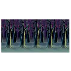Spooky Forest Trees Backdrop (6ct)