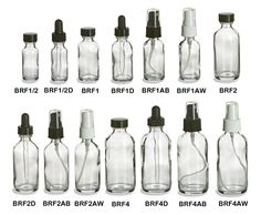 Clear Boston Round Glass Bottles An entire website with tons of different bottles or jars you can buy for thousands of different purposes. Spice jars, too! Bottles And Jars, Mason Jars, Diy Jars, Small Glass Bottles, Apothecary Bottles, Plastic Bottles, Homemade Beauty, Diy Beauty, Ayurveda