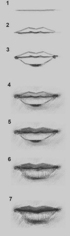 Ideas Of Draw Lips Step By Step 1000 Ideas About Drawing Step On Pinterest Cool Easy Drawings