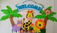 Foam Crafts, Diy And Crafts, Crafts For Kids, Paper Crafts, Jungle Decorations, School Decorations, Safari Party, Safari Theme, Giraffe Room