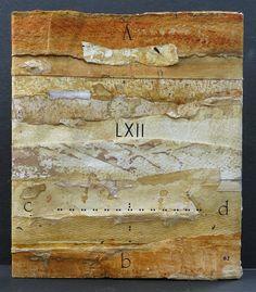"""Francine Vernac - Jouer avec le temps LXII (couverture arrière) """"Playing with time"""" Collages, empreintes, lettrage Livre d'artiste 1/1, 2013"""