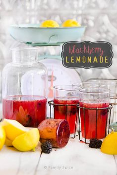 When you can't wait for summer, this blackberry lemonade will take you away to lazy summer days, laughter and fun in the sun.