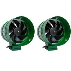 """Be cool! Enjoy a portable way to cool off, wherever you need it with the 8"""" Active Air Inline Fan. Bring the chill inside to your grow room, kitchen, or other warm areas with the Active Air In Line Booster Fan. The fan props up on its own and can work as a standalone or may be mounted in line with your existing ductwork to increase airflow. 8"""" Active Air Inline Fan is quiet running, made with UL recognized components, and include an 8', 120v power cord. The Eco themed green casing coloring blend Hydroponic Lights, Hydroponics Setup, Aquaponics Diy, Aquaponics System, Cape Designs, Skin Lightening Cream, Grow Room, Fans, Active"""