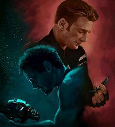 An endgame often refers to the final stage of a game like chess where players must make certain sacrifices in order to win. Art by Steve and Tony in Avengers: Endgame. Marvel Avengers, Marvel Comics, Marvel E Dc, Marvel Fan Art, Marvel Memes, Avengers Movies, Chris Evans, Robert Evans, Die Rächer