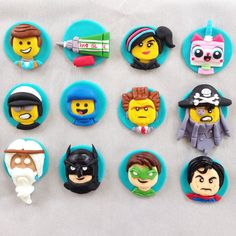 Lego Movie Cupcake Toppers set of 12 by TotallyRadCakes on Etsy
