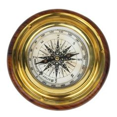 Wood n Brass Real Nautical Compass Handicraft 140
