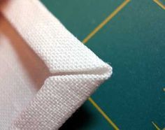 Tutorial: Mitred Corners on a Linen