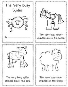 ALL ABOUT SPIDERS! - Love this little reader for positional word practice--students read the page and glue the spider in the correct spot.