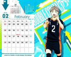 Haruichi Furudate, Production I.G, Haikyuu! Haikyuu, Nishinoya, January Calendar, Diy Calendar, Production Ig, App Anime, Sword Art Online Wallpaper, Haruichi Furudate, App Icon Design