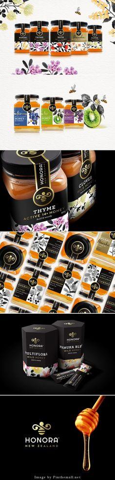 Honora Honey Packaging Design