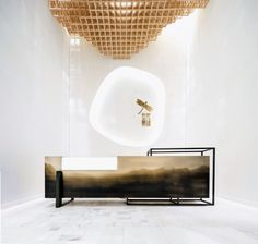 Modern Reception Desks Design Inspiration - Page 2 of 3 - The Architects Diary Design Entrée, Lobby Design, Deco Design, Club Design, Design Model, Modern Reception Desk, Reception Desk Design, Reception Counter, Hotel Reception