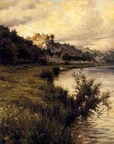 3 Hilltop Chateau landscape Louis Aston Knight