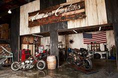 Custom hot rod shop, or Affliction break room?