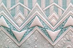 Wide Open Borders by Judi Madsen What a fantastic quilter Quilt Stitching, Applique Quilts, Quilting Tutorials, Quilting Projects, Quilting Tips, Whole Cloth Quilts, Machine Quilting Designs, Quilt Border, Free Motion Quilting